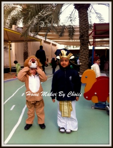 Haqeem with his best buddy Hamad