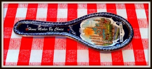 Hand painted ceramic spoon-Blue Mosque