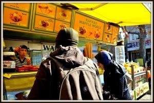 Waffle and ice cream shops