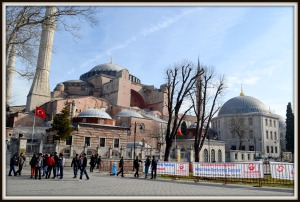 Hagia Sofia view from Sultanet Ahmad Square