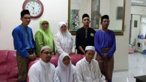 With brothers, sister and dearest mum on Eid 2013