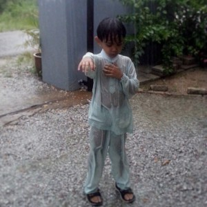At least my boy was able to play in the rain di petang raya