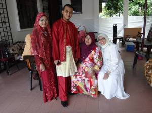 With the newly wed couple