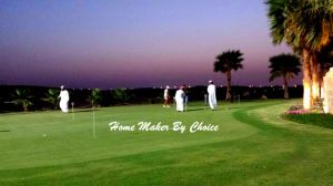 Golfing with Dishdasha... unique!