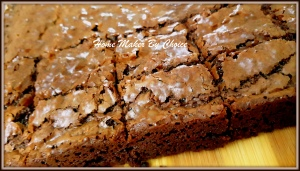 Wrinkled top chocolate brownies