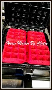 Belgium style waffle iron